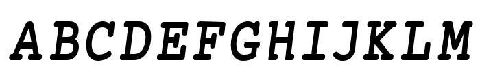 Mechanical Bold Condensed Oblique Font UPPERCASE