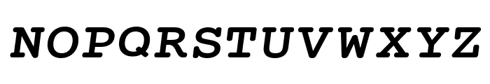 Mechanical Bold Extended Oblique Font UPPERCASE