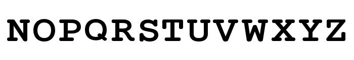 Mechanical Bold Extended Font UPPERCASE