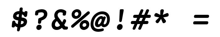Mechanical Bold Oblique Font OTHER CHARS