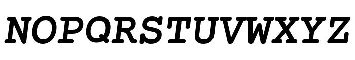 Mechanical Bold Oblique Font UPPERCASE