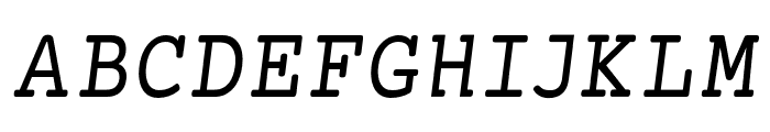 Mechanical Condensed Oblique Font UPPERCASE