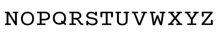 Mechanical Extended Font UPPERCASE