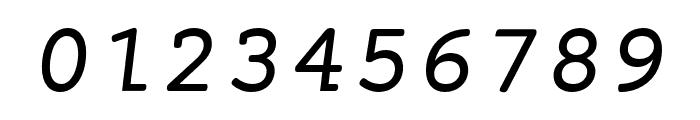 Mechanical Oblique Font OTHER CHARS