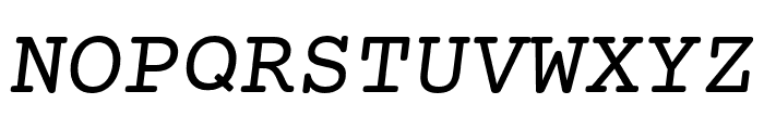 Mechanical Oblique Font UPPERCASE