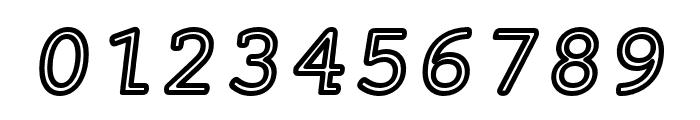 Mechanical Outline Oblique Font OTHER CHARS