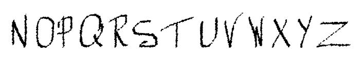 Mechanical Rorschach Font UPPERCASE