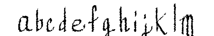 Mechanical Rorschach Font LOWERCASE
