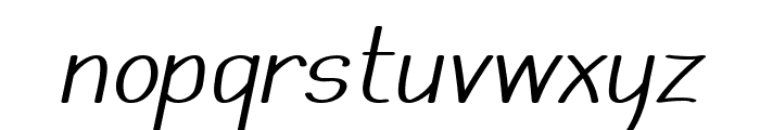 Mechanihan Italic Font LOWERCASE
