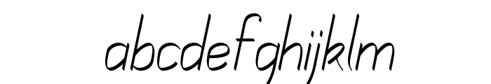 Mechanihan Ribbon Italic Font LOWERCASE