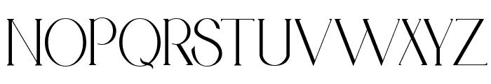 Medhurst Font UPPERCASE
