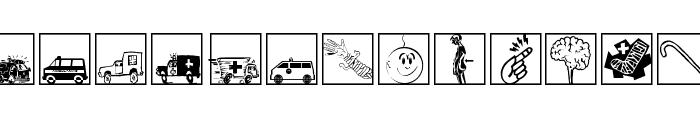 MediCartoons Font UPPERCASE
