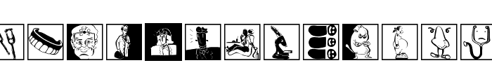 MediCartoons Font LOWERCASE