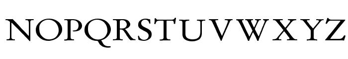 MediaevalItalique Font UPPERCASE