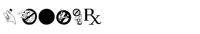 Medicobats Font LOWERCASE