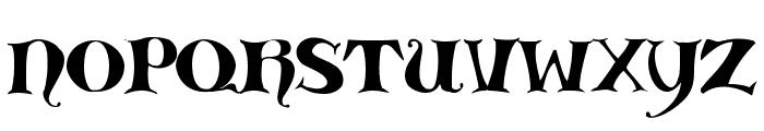 Medieval Scribish Font UPPERCASE