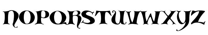 Medieval Scribish Font LOWERCASE