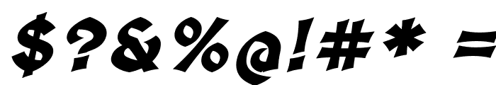 Medieval Sharp Bold Oblique Font OTHER CHARS