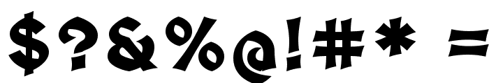 Medieval Sharp Bold Font OTHER CHARS