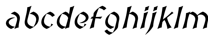 Medieval Sharp Oblique Font LOWERCASE