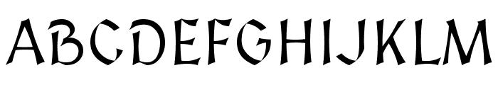 Medieval Sharp Font UPPERCASE