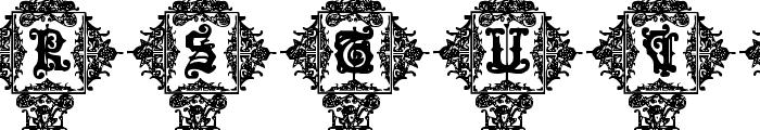 Medieval Sorcerer Ornamental Font UPPERCASE