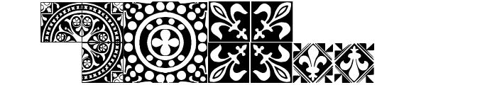 Medieval Tiles I Font UPPERCASE