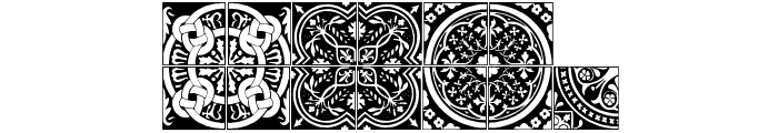Medieval Tiles I Font LOWERCASE