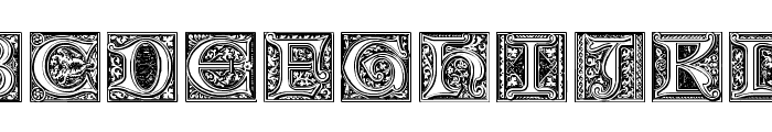 Medieval Victoriana No.1 Font UPPERCASE