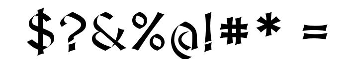 MedievalSharp Font OTHER CHARS