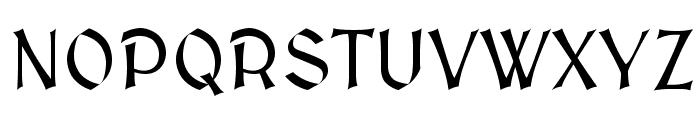 MedievalSharp Font UPPERCASE
