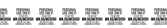 Medish Script PERSONAL USE ONLY Font OTHER CHARS