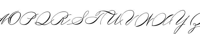 Medish Script PERSONAL USE ONLY Font UPPERCASE