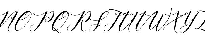 MeethaScriptDemo Font UPPERCASE