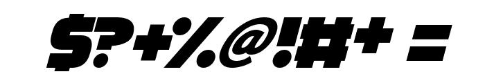 Megabomb Italic Font OTHER CHARS