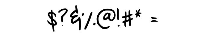 MeganHand Font OTHER CHARS