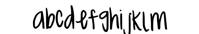 MeganHand Font LOWERCASE