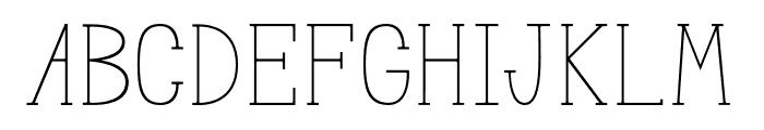 MeganSerif Font UPPERCASE