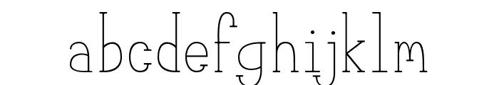 MeganSerif Font LOWERCASE