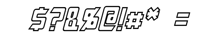 Megatron Hollow Condensed Italic Font OTHER CHARS