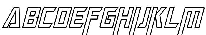 Megatron Hollow Condensed Italic Font UPPERCASE