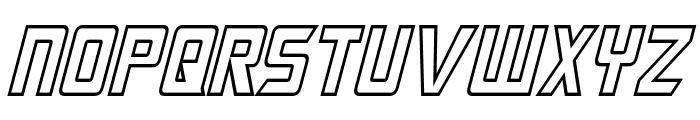 Megatron Hollow Condensed Italic Font LOWERCASE