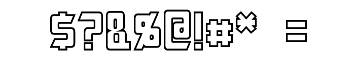 Megatron Hollow Condensed Font OTHER CHARS