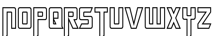 Megatron Hollow Condensed Font UPPERCASE