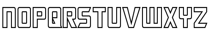 Megatron Hollow Condensed Font LOWERCASE