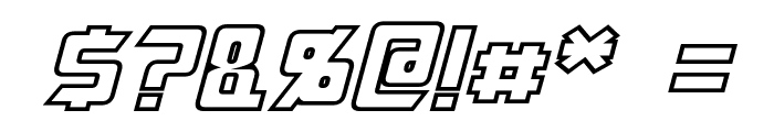 Megatron Hollow Italic Font OTHER CHARS