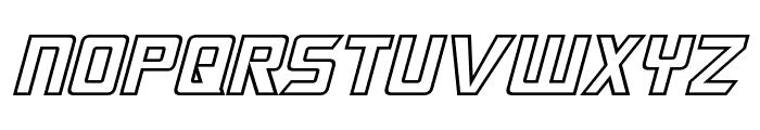 Megatron Hollow Italic Font LOWERCASE