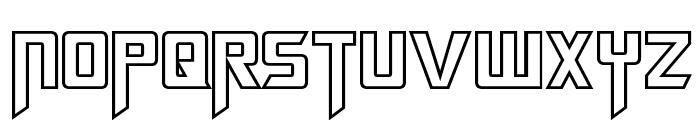 Megatron Hollow Font UPPERCASE