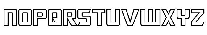Megatron Hollow Font LOWERCASE