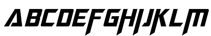 Megatron Italic Font UPPERCASE